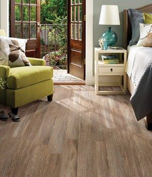 Bedroom scene - luxury plank flooring