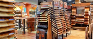 Carpet Town's hardwood flooring displays