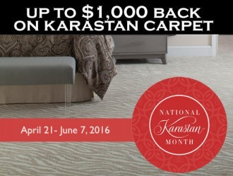 It's National Karastan Month at Milwaukee's Carpet Town UP to $1000 back on carpeting
