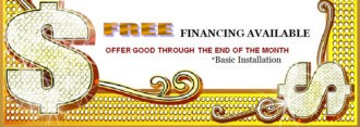 "dots, dollar signs, and Free financing available, offer through end of month, carpet installation is ""basic"""