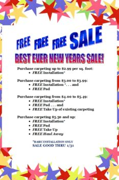 2017 New Year sale Best ever on carpet