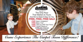 Experience the Carpet Town Difference with our free free and % off sale this April 2017