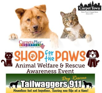 Part of Shop for Paws event to benefit tailwaggers 911 organization