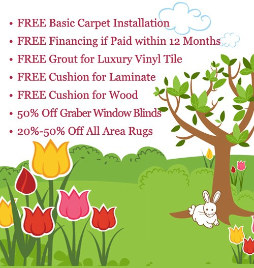 Free installation, padding, financing and % off available