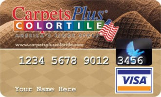 ColorTile credit card for our fee 12 month financing