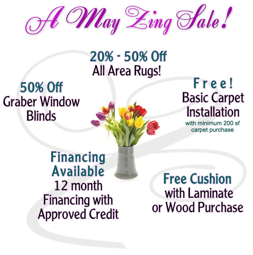 May flooring sale %off and freebies -West Allis, WI