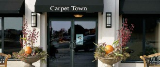 Carpet Town entryway in fall
